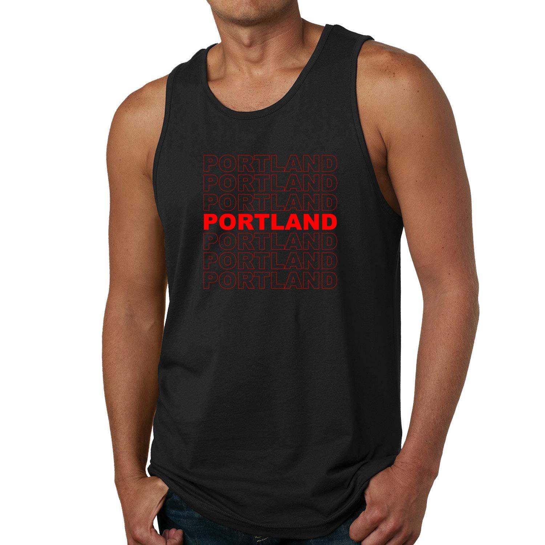 Red Box Logo Portland City Pride Mens Graphic Tank Top