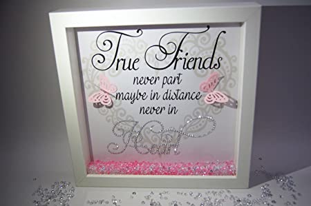 True Friends Never Part, Sparkle Crystal Frame, Word Art Pictures ...