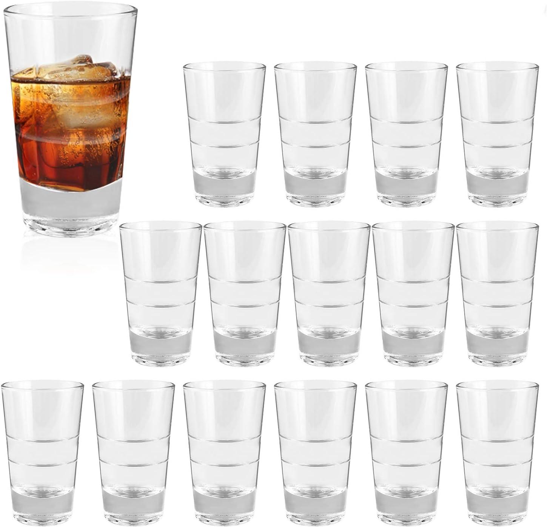 Amazon Com 4 Ounce Heavy Base Shot Glass Set Qappda Whisky Shot Glasses 4 Oz Mini Glass Cups For Liqueur Cordial Glasses Tequila Cups Small Glass Shot Cups Set Of 16 Kty1511 Shot Glasses