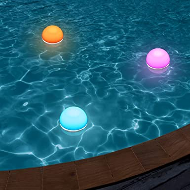AUKEY Lámpara de Noche Control Táctil con Blanco Cálido Ajustable y RGB, Recargable Apliques de Pared Móviles con Impermeable IP65 & Resistente a Caída, Lámpara de atmósfera y Luz de Noche para