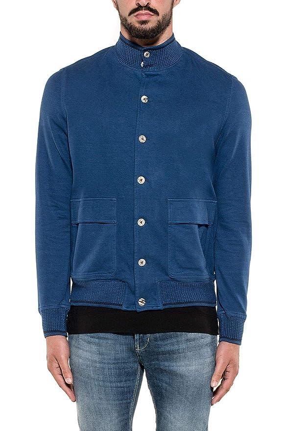 H953 Men s Hs216689 Blue Cotton Sweatshirt at Amazon Men s Clothing store  0bea2b240d9