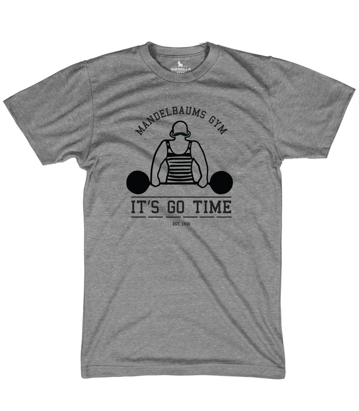 Mandelbaums Gym Funny Graphic Tees Workout And Weightlifting Tv Shirt