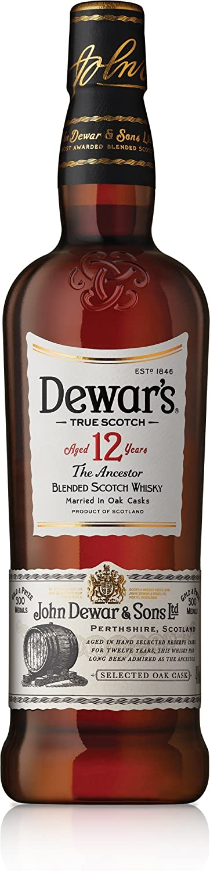 Dewars Whisky Escocés 12 Años, 700ml