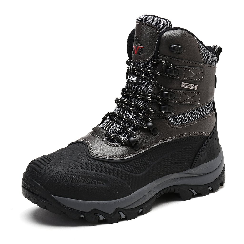 arctiv8 Men's 2160443 Black Grey Insulated Waterproof Construction Hiking Boots Size 14 M US