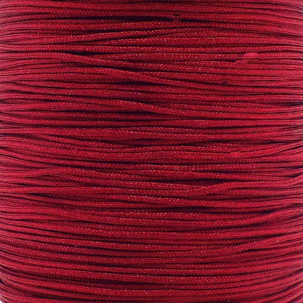 0.6mm Shamballa/Chinese Knotting Nylon Cord - Dark Red - 5m