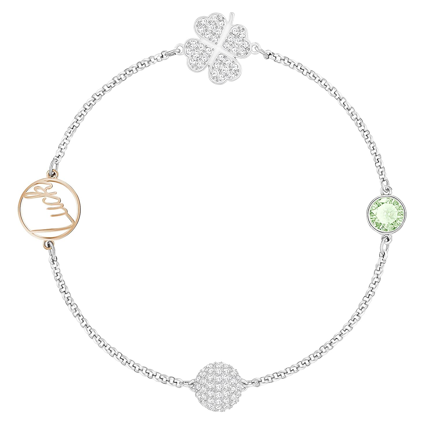 cb6b284254436 Swarovski Remix Collection Clover, Green, Mixed Plating: Amazon.co ...