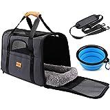 morpilot Pet Travel Carrier Bag, Portable Pet Bag - Folding Fabric Pet Carrier, Travel Carrier Bag for Dogs or Cats, Pet Cage