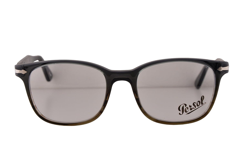 28c40b5ea24c Persol PO3119V Eyeglasses 55-19-145 Dark Grey Gradient Green Brown 1012  PO3119 (FRAME ONLY): Amazon.co.uk: Clothing