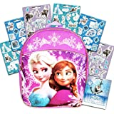 Disney Frozen Preschool Backpack Toddler 11 (Anna and Elsa Backpack with Purple Piping)