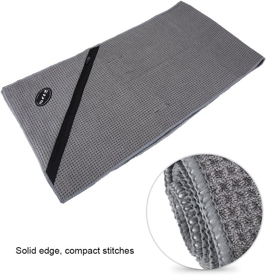 Pilates Multi-Purpose Microfiber Sports Towel with Zippered Pocket for Workout Fitness Gym Towel Yoga Travel