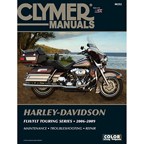 amazon com: 1 - clymer harley-davidson flh-flt touring series (2006-2009):  everything else