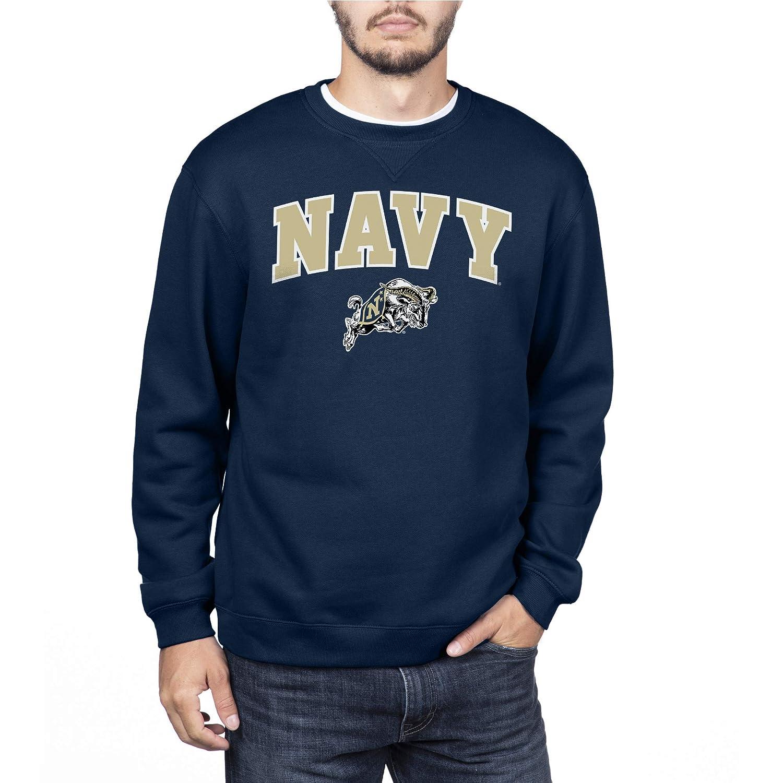 NCAA Navy Mens Team Color Crewneck Sweatshirt Blue XX-Large