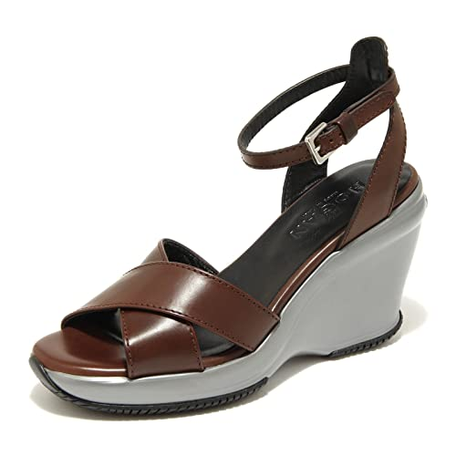 9890 sandali marroni HOGAN attractive sandalo donna shoes women