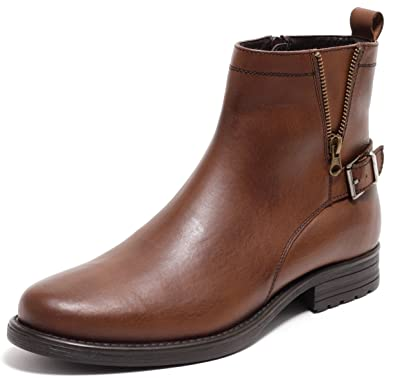 d62ab7deca5f3a Zapato ECHT Leder Herren Boots Lederstiefel Stiefeletten mit Reißverschluss  Cognac BRAUN Gr.41-44
