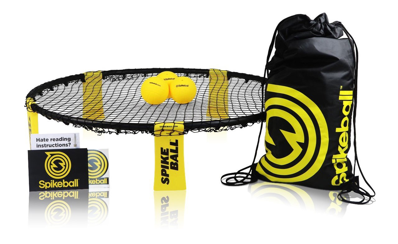 Spikeball 3 Ball Sports Game Set - Outdoor Indoor Gift for Teens, Family - Yard, Lawn, Beach, Tailgate - Includes Playing Net, 3 Balls, Drawstring Bag, Rule Book- As Seen on Shark Tank (3 Ball Set) by Spikeball