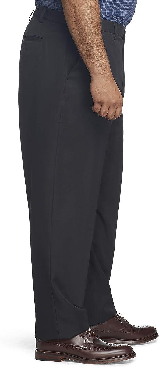 Arrow 1851 Mens Big /& Tall Flat Front Straight Fit Solid Twill Micro Dress Pant