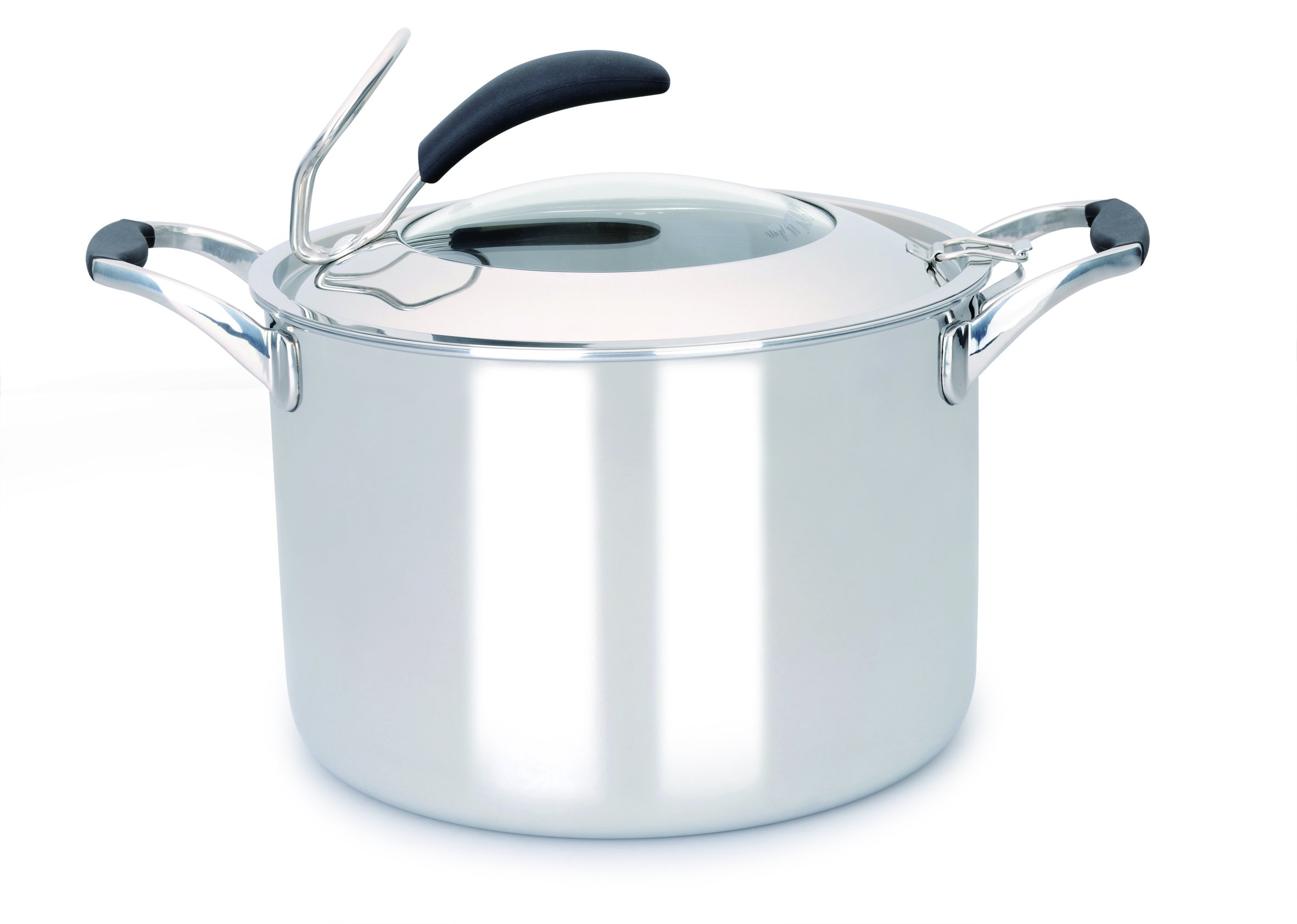 Gunter Wilhelm 308 Stockpot with Lid, 5-Ply, 8 quart, Stainless Steel Cookware (Pack of 2)