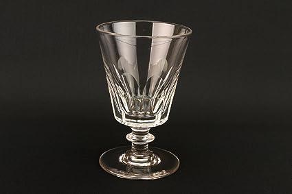 Gran Copa de vino 40 cumpleaños Panel corte Inglés antiguo victoriano mediados de siglo XIX cerveza