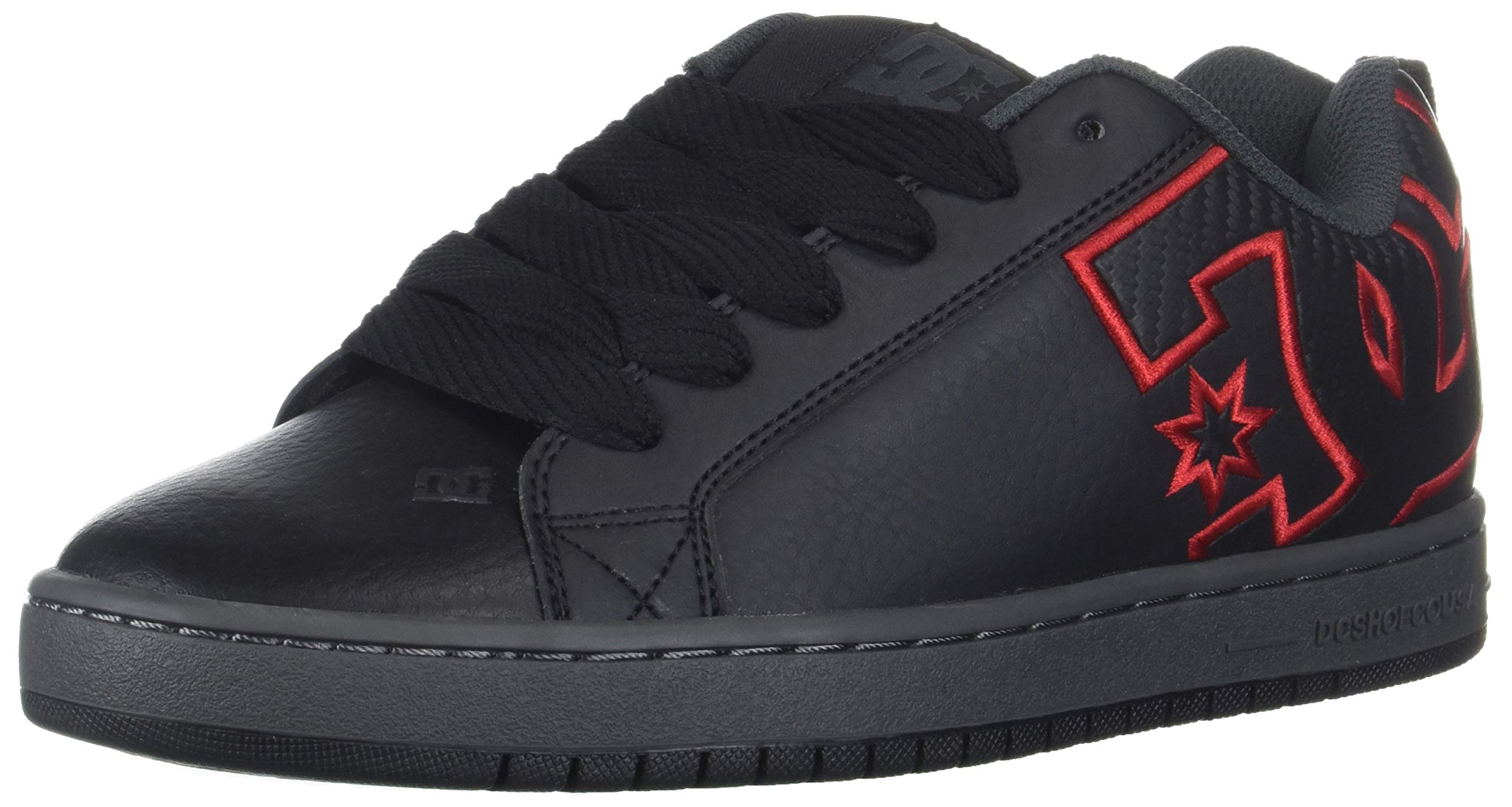 DC Men's Court Graffik Se Skate Shoe, Black/White/Grey, 6 D M US