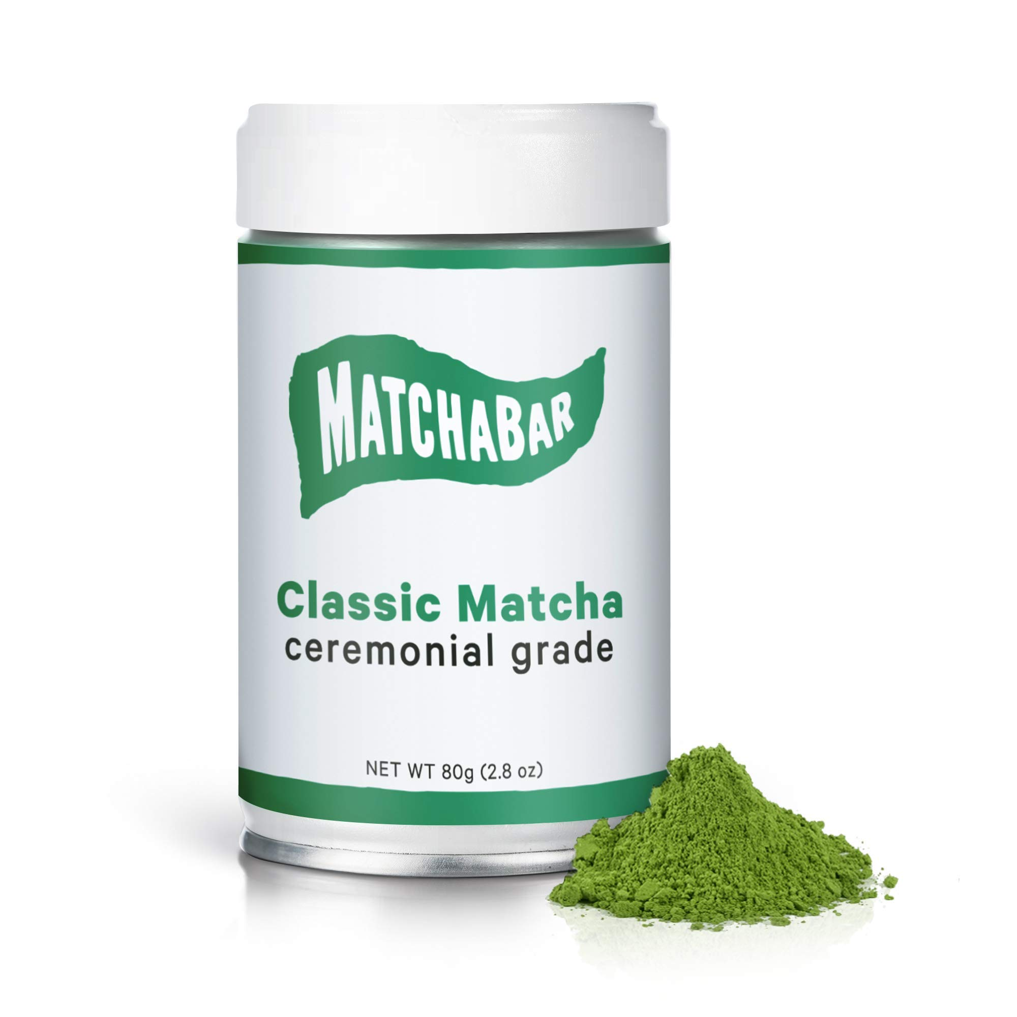 MatchaBar Ceremonial Grade Matcha | Authentic Japanese Tea Powder with Natural Caffeine, Antioxidants, L-Theanine | Hand Selected by Chashi Master | 80g Tin