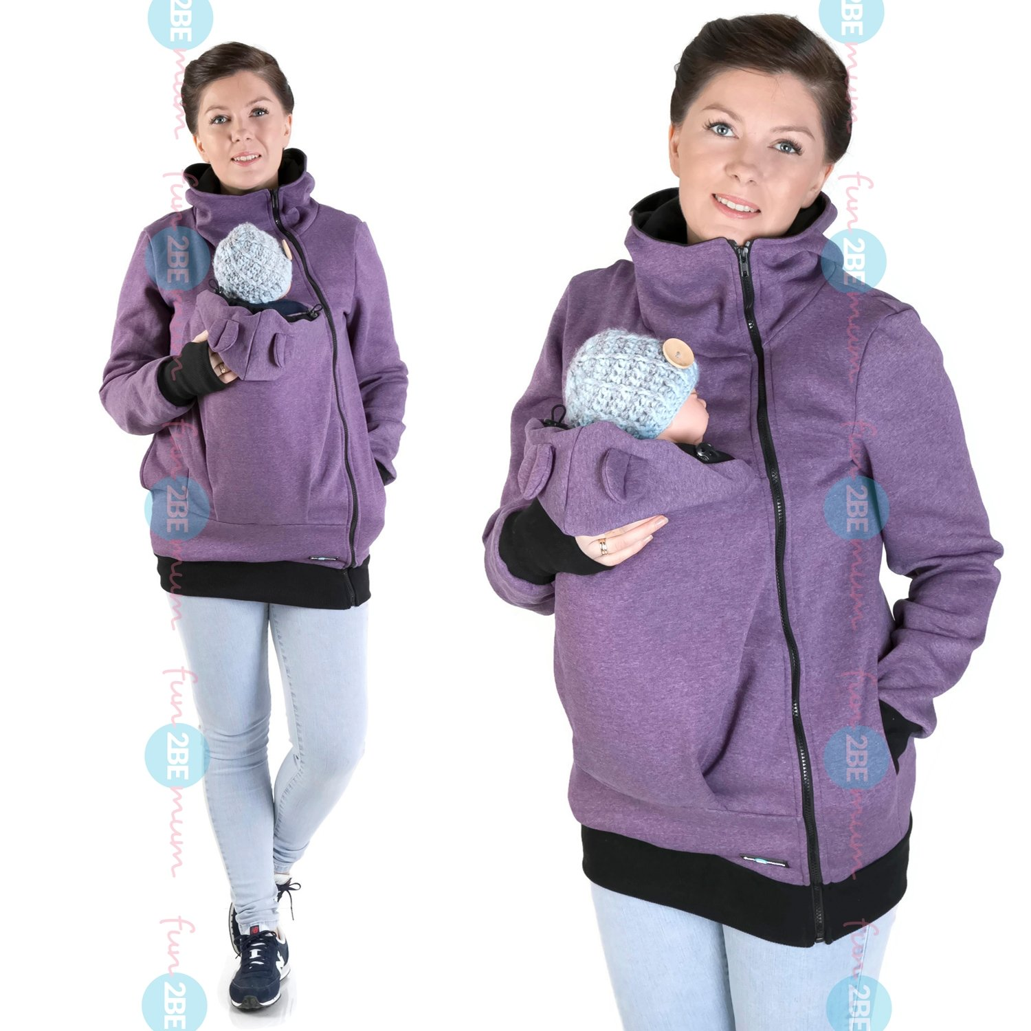 FUN2BEMUM Baby Carrier babycarrying Jacket Hoodie NP22 Purple