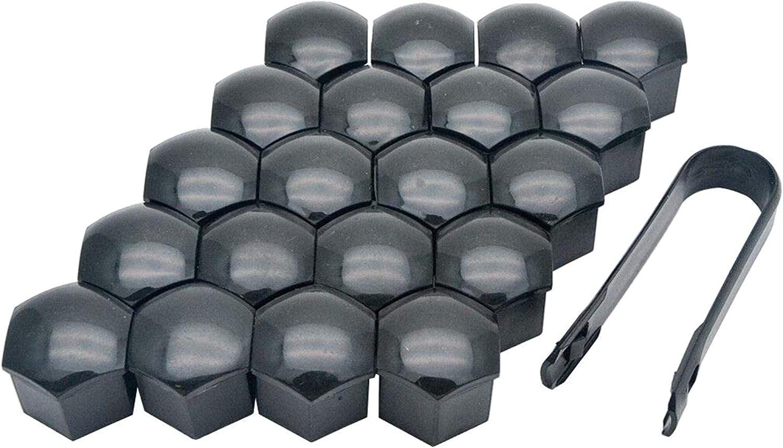 SALAKA Wheel Nut Bolt Covers 20Pcs Wheel Nut Caps Plastic Wheel Bolt Caps For Any Cars 21MM//19MM//17MM