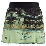 adidas Ny Tennis Skirt, Glow Green/Black, X-Large