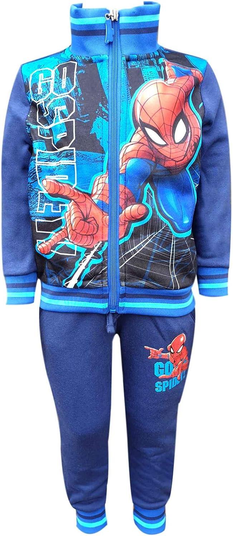 Offiziell lizenzierte Spiderman Printed mit Fleece-Futter Anzug Trackpant Alter 2 bis 8 Jahre