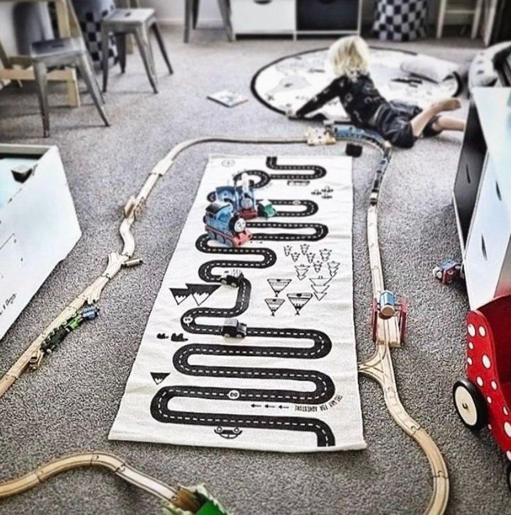 TWGDH Crawling Mat Baby Game Blanket Juego Game Mat Decoraci/ón para Cuartos De Ni/ños Playmat Carpet Portable Anti-Slip Rug,A,75 125Cm