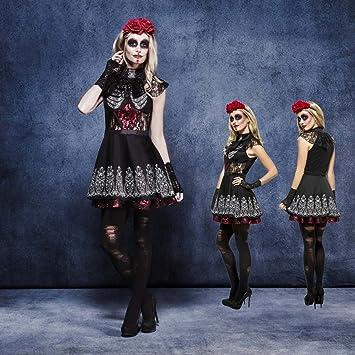 NET TOYS Disfraz Sexy Sugar Skull Outfit gótico La Catrina XS 32 ...