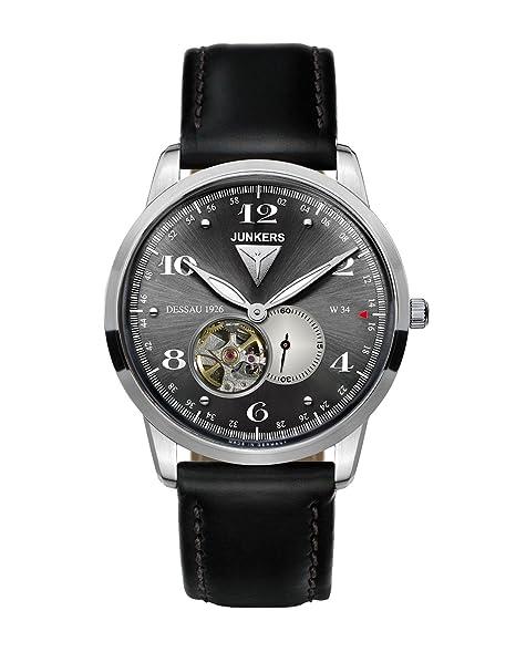 Junkers Reloj Analógico Automático para Hombre con Correa de Piel - 63602: Amazon.es: Relojes