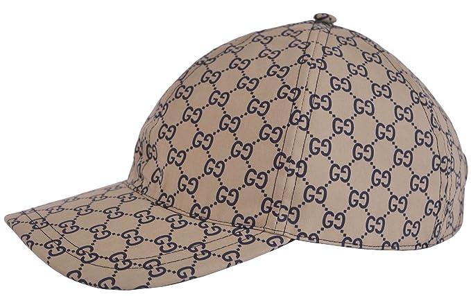 73718f5e55c Gucci Men s Beige Blue GG Guccissima Web Stripe Baseball Cap (Small ...
