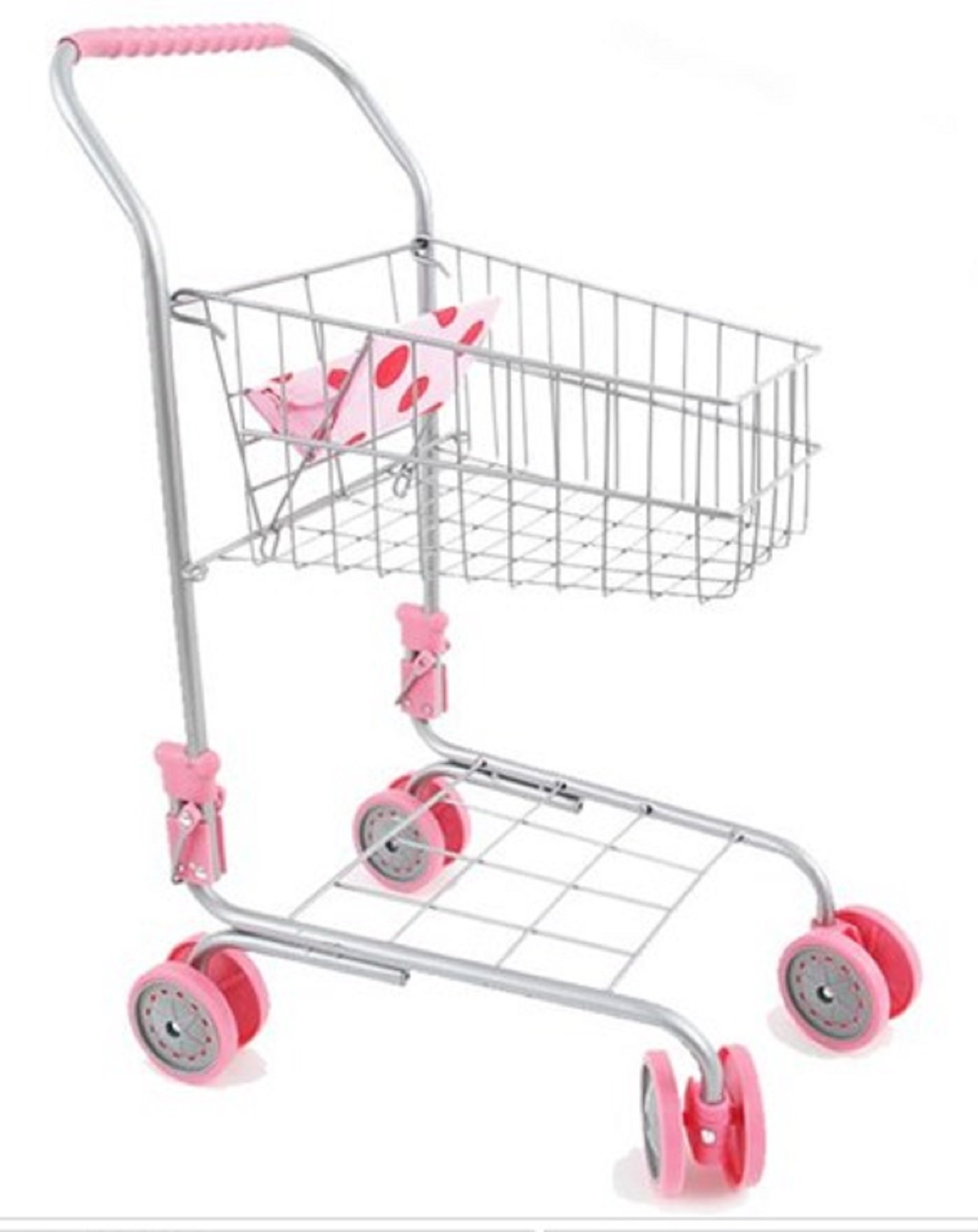 Melobo Toy Shopping Cart Foldable Play Set Boy Toy Girl Toy Shopping Roll Play 22.8''