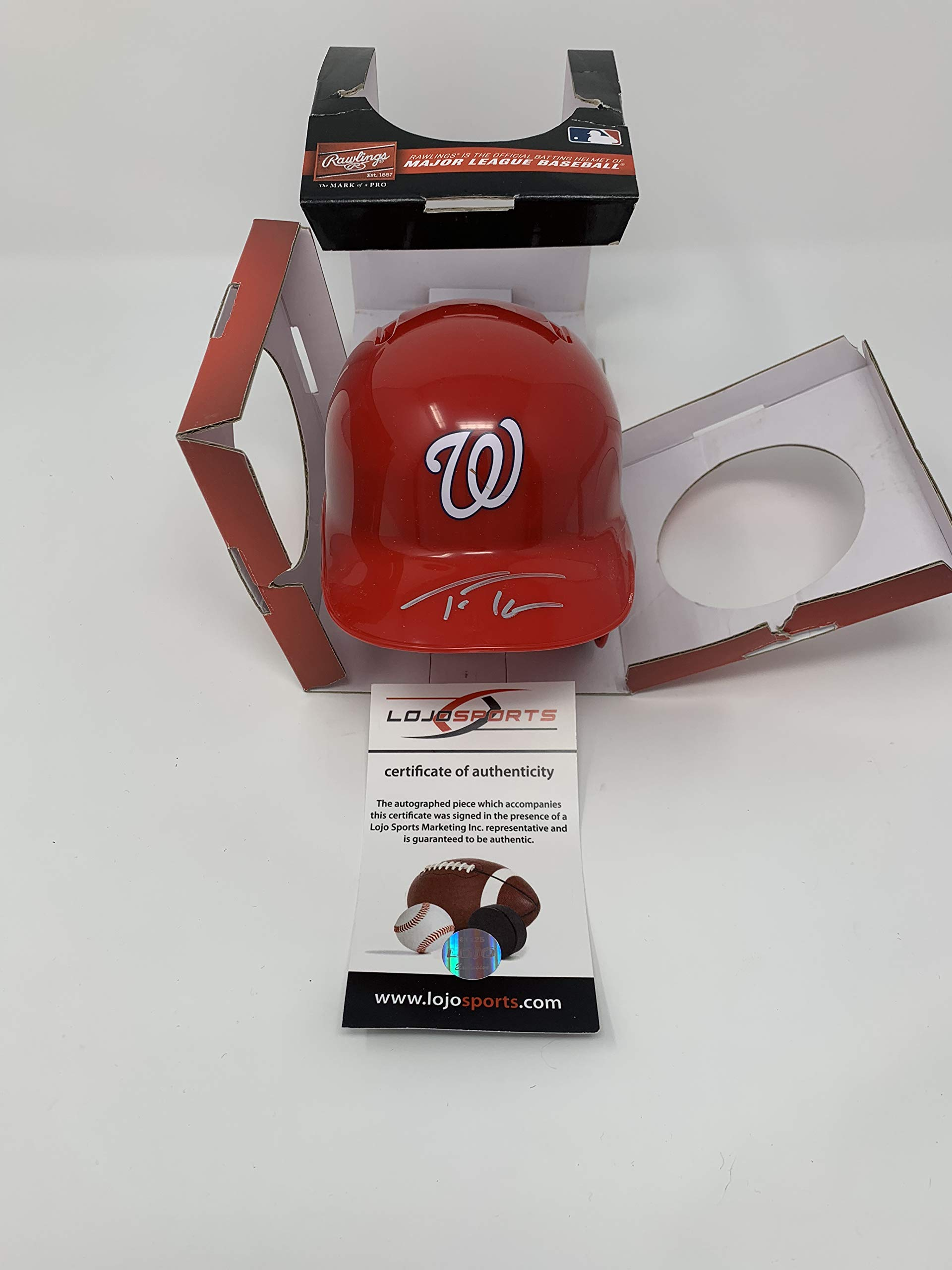 Trea Turner Washington Nationals Signed Autograph Mini Helmet LoJo Sports Certified
