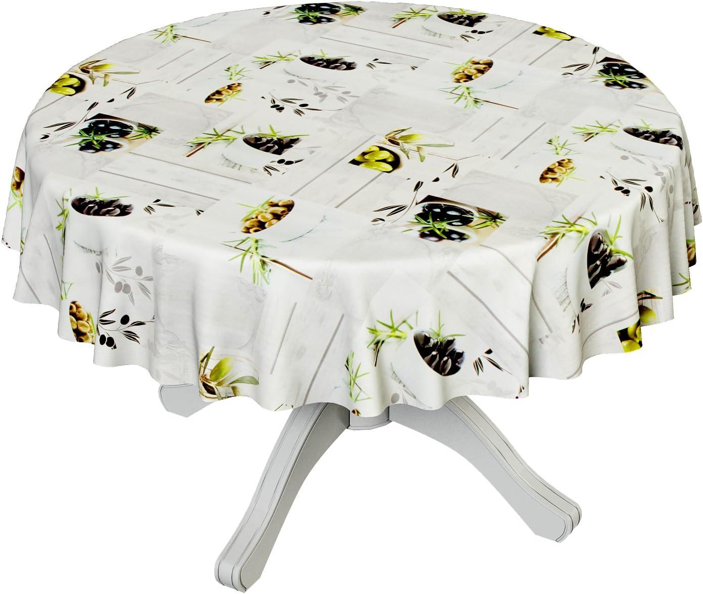 ANRO Hule Mesa Mantel de Hule Lavable Aceitunas tamaño a Elegir ...
