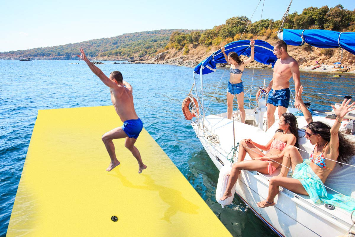 Outroad Floating Mat - Floating Foam Pad Water Recreation and Relaxing for Adults and Kids (12' x 6')