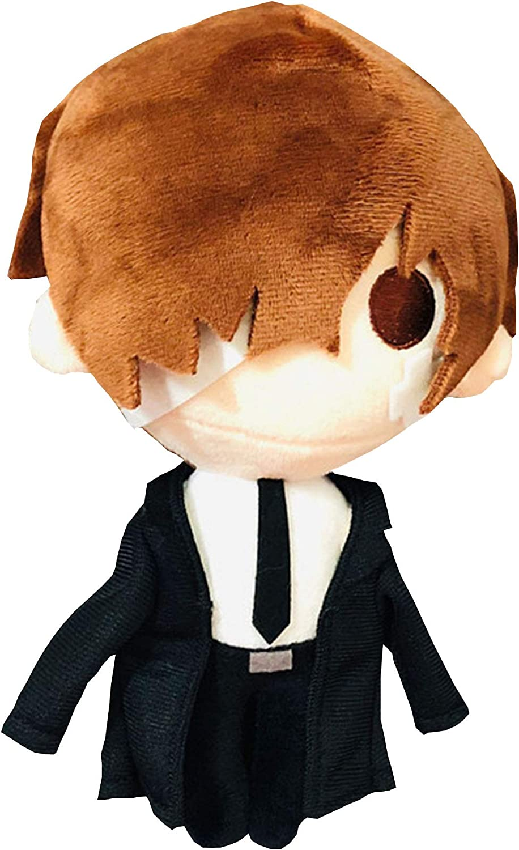 Heionia Stray Dogs Plush Toy Funny Anime Figure Ryunosuke Akutagawa Stuffed Plushie Doll Cosplay Comic Show Props 7.87in