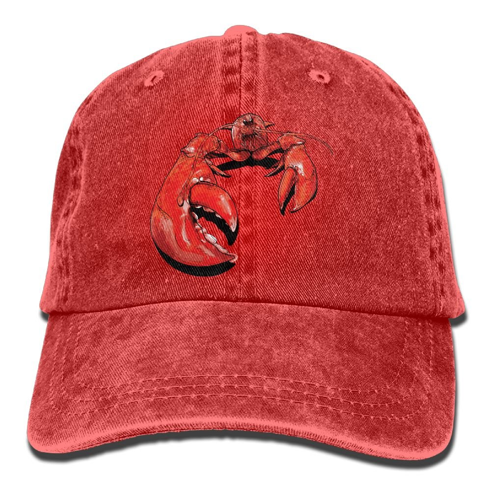 Men Women Lobster Clipart Adjustable Jeans Baseball Cap Sun Hat