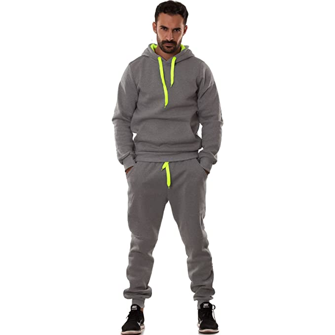 2208ade8907e Toocool - Tuta Uomo Felpa Pantaloni Fitness Palestra Cappuccio Tasche Sport  Nuova S6603 [M,