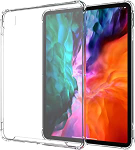 LUVVITT iPad Pro 12.9 Case 2020 Clear View with Shockproof Drop Protection Slim Hybrid TPU Gel Bumper and Hard PC Scratch Resistant Back Cover for Apple