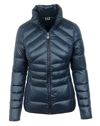 ef377804d6d Emporio Armani Women s Jacket Blue Dunkelblau - Navy - Blue - Medium   Amazon.co.uk  Clothing