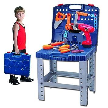 Fantastic Kids Workbench Toy Tool Kits Super Toolbench Workshop Inzonedesignstudio Interior Chair Design Inzonedesignstudiocom