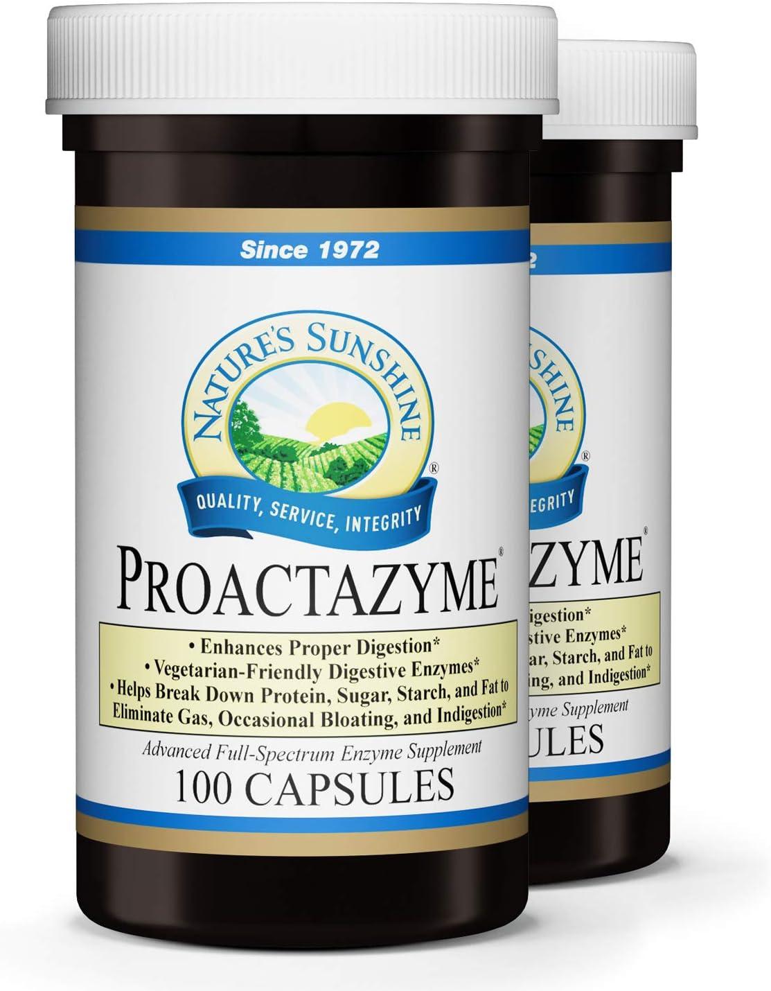Nature's Sunshine Proactazyme 100 Capsules, 2 Pack
