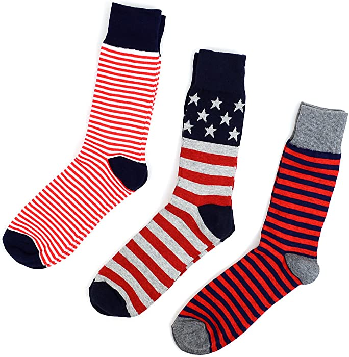 283ba0f55d61 Men's Fourth of July Fancy Dress Socks Gifts Set at Amazon Men's ...