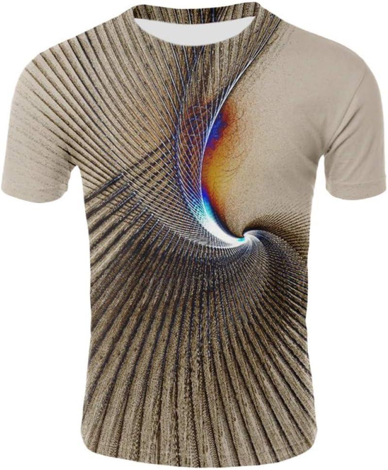 WWDDVH Camisas Divertidas Camisetas Psicodélicas Hombres Impresión del Arte Camiseta Colorida Pintadas 3D Camisetas Abstractas Ocasionales Camiseta para Hombre Impresa Tops: Amazon.es: Deportes y aire libre