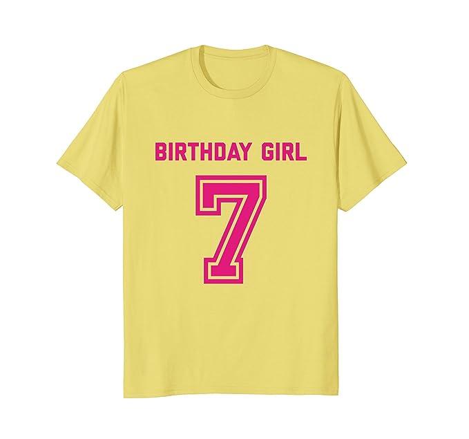 Mens 7th Birthday Shirt Gift Age 7 Year Old Girl Tshirt Girls Tee 2XL Lemon