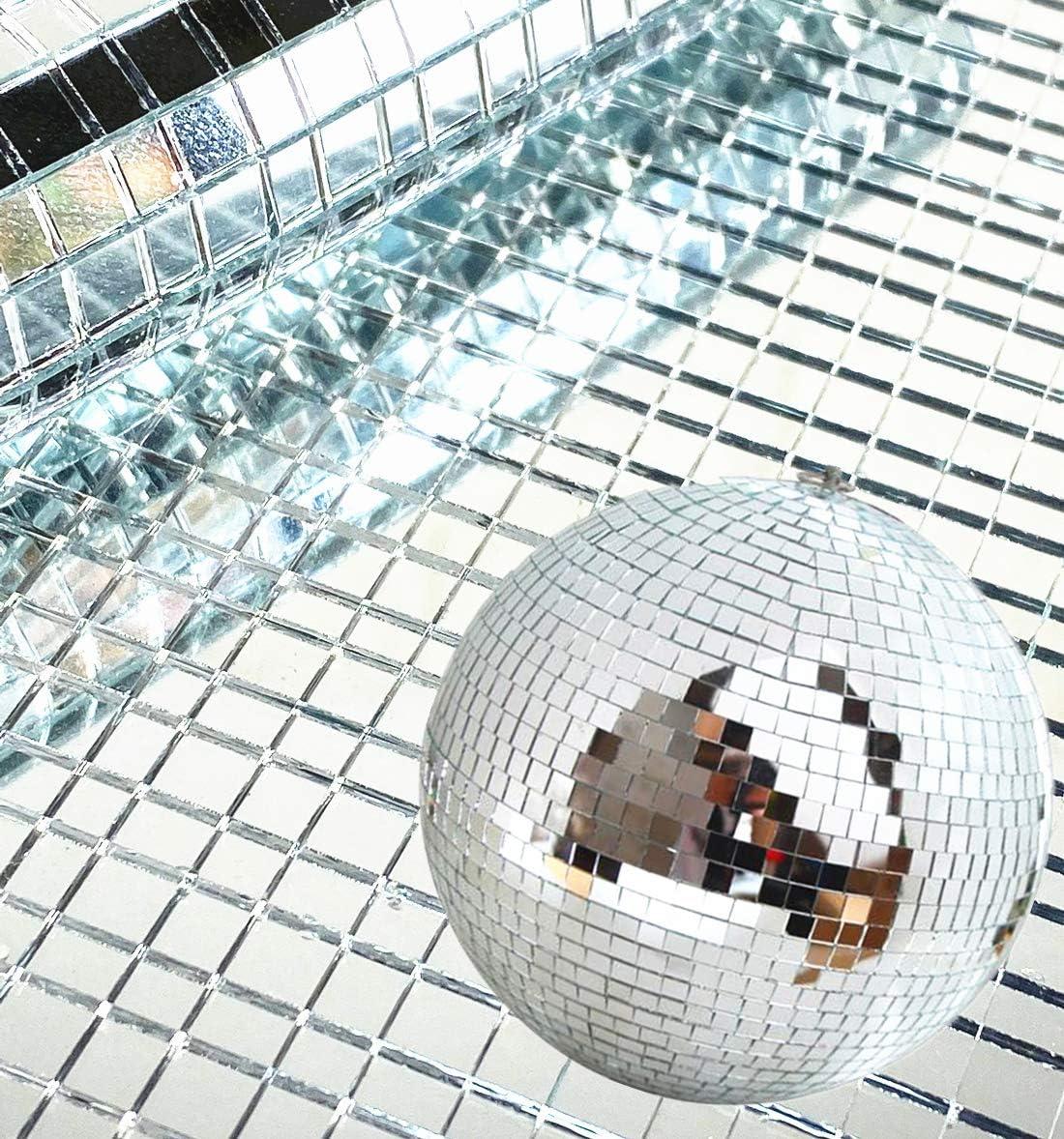 5 mm x 5 mm 2400 St/ück Meboom Selbstklebende Spiegelmosaik Fliesen Mini Silber quadratisch Glas-Aufkleber