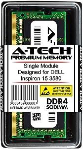 A-Tech 4GB RAM for DELL Inspiron 15 3580 | DDR4 2666 SODIMM PC4-21300 1.2V 260-Pin Memory Upgrade Module