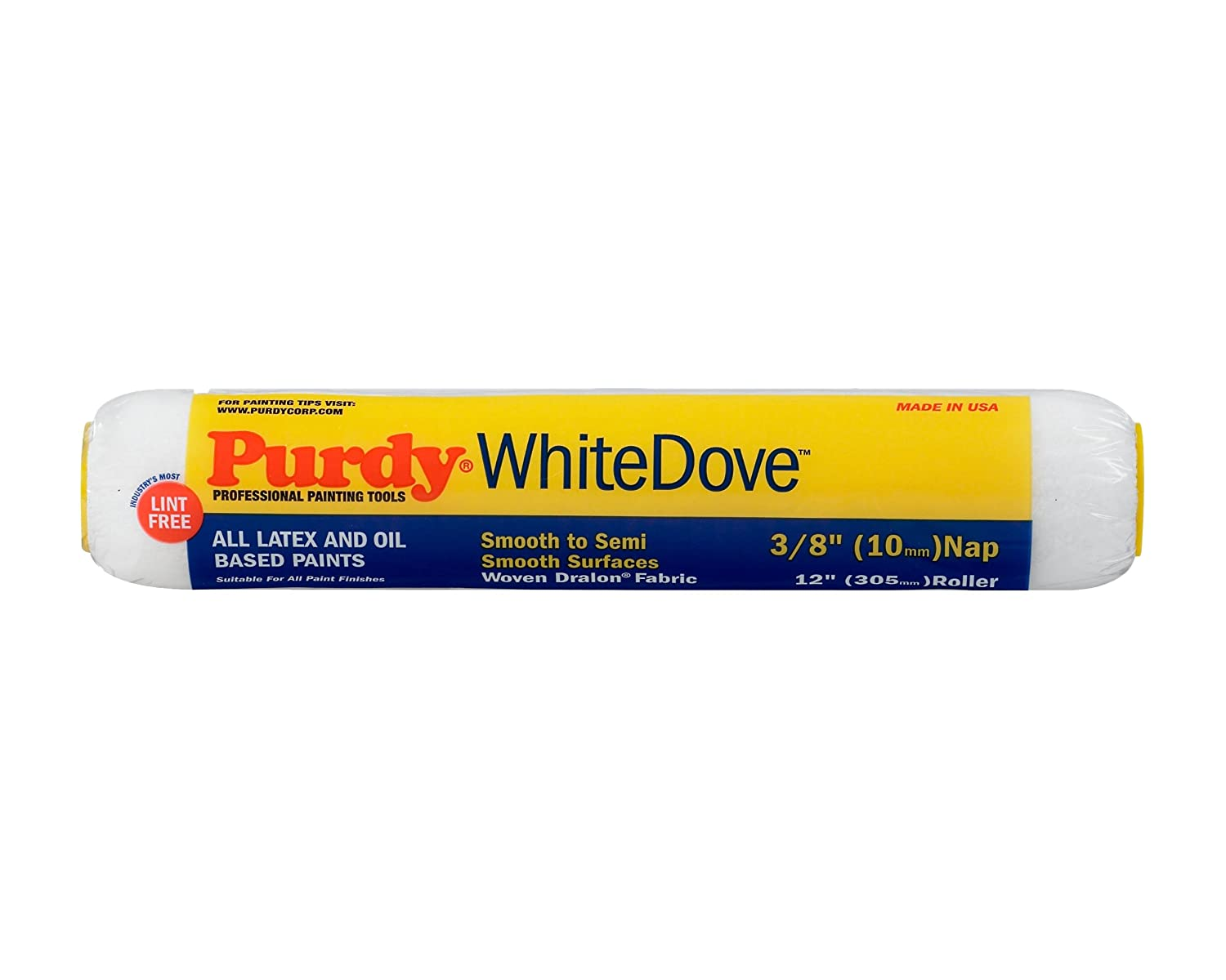 Purdy 140670122 White Dove Roller Cover, 12 Inch x 3/8 nap