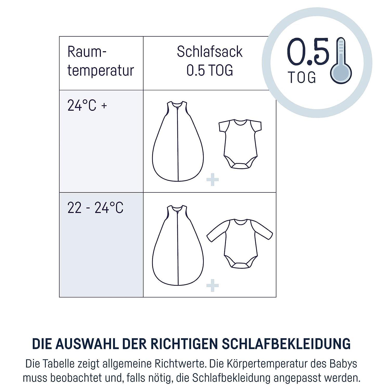 Julius Z/öllner Schlafsack Sommerschlafsack Sternenhimmel grau, Gr/ö/ße 70   6-12 Monate